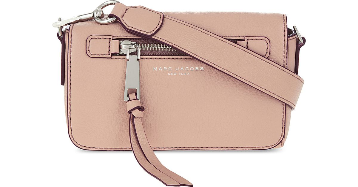 44eed6be29 Lyst - Marc Jacobs Recruit Leather Cross-body Bag in Natural