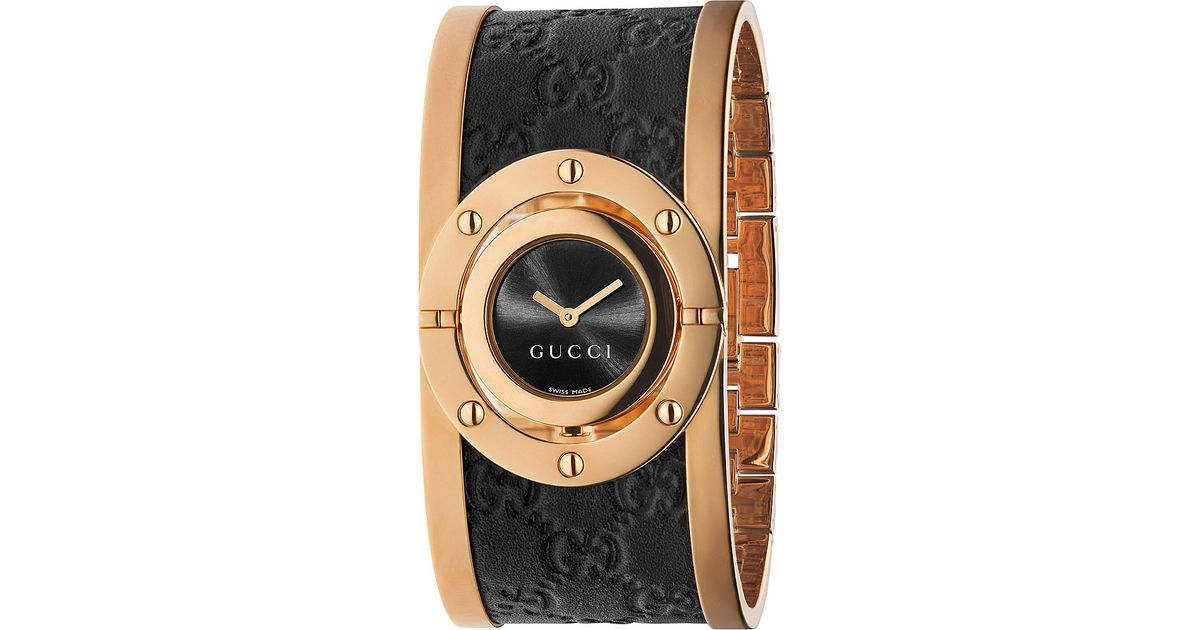 db8fa97fae8 Gucci Ya112438 Twirl Large Pink-gold Pvd Watch in Metallic - Lyst