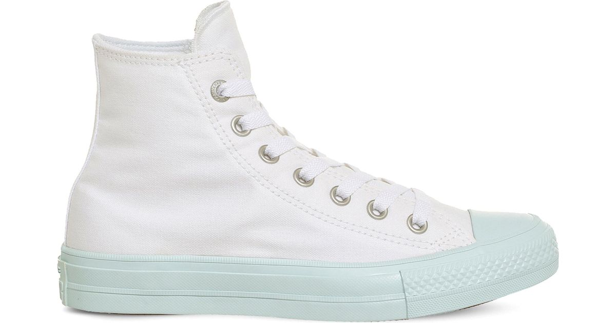 348267a19c9a Lyst - Converse Lunarlon Chuck Taylor All Star Ii Shield Canvas High-top  Trainers in White