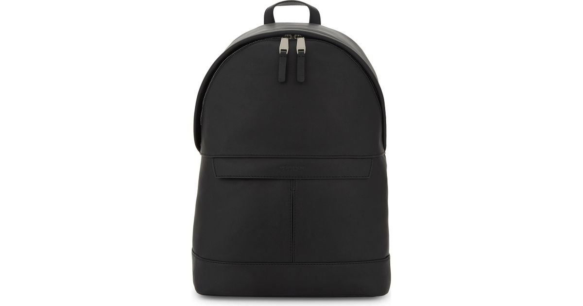 396a5cc9d898 Lyst - Michael Kors Odin Smooth Leather Backpack in Black