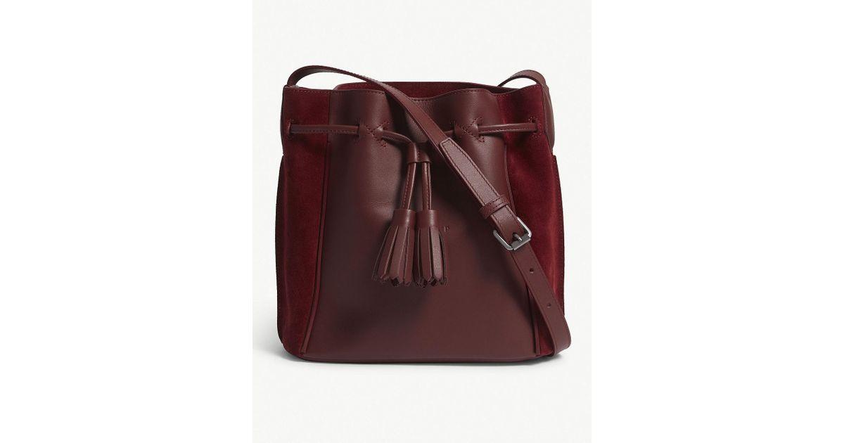 8c2870be1d17 Longchamp Pénélope Leather And Velvet Bucket Bag - Lyst