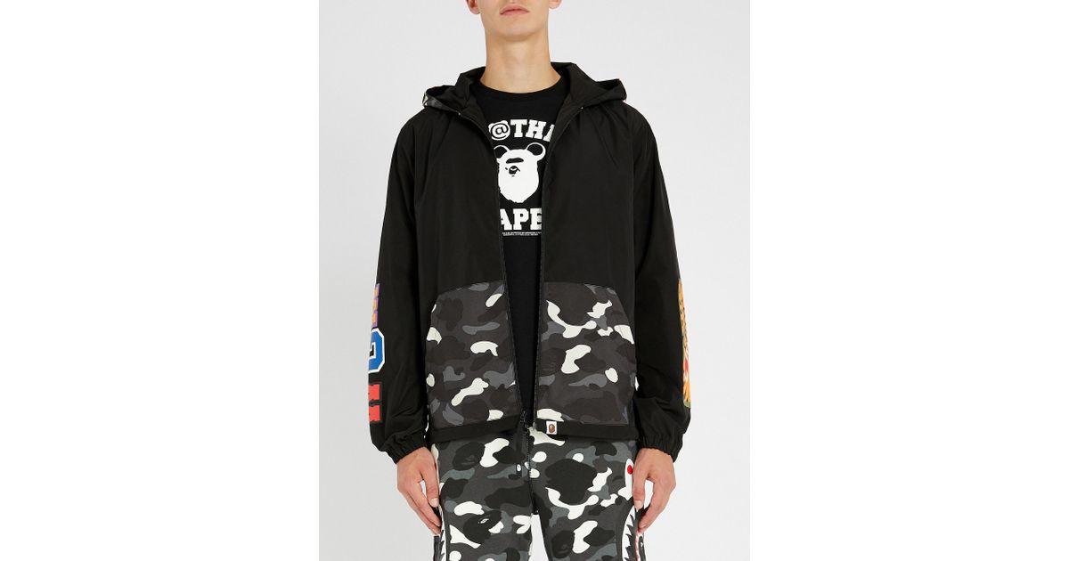 471bcee3bea Lyst - A Bathing Ape Camo-shark Shell Jacket in Black for Men