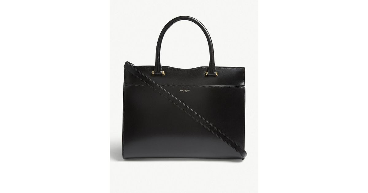 Lyst - Saint Laurent Uptown Tote Bag in Black c63101005f39e