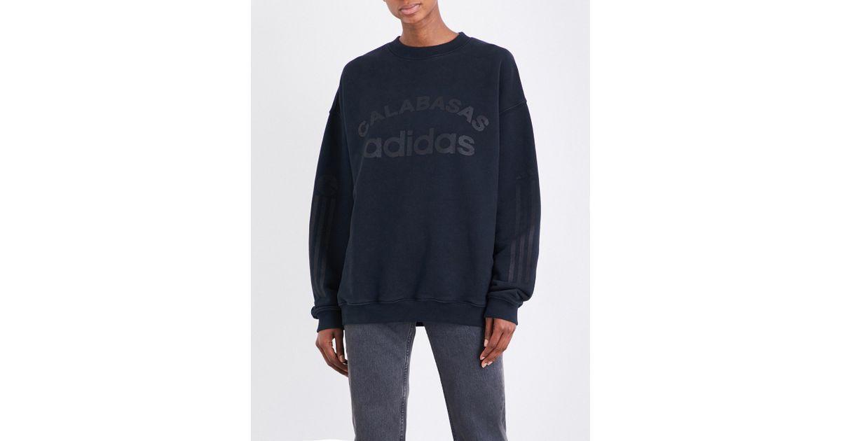 105efc532 Lyst - Yeezy Season 5 Calabasas Adidas Cotton-jersey Sweatshirt in Blue