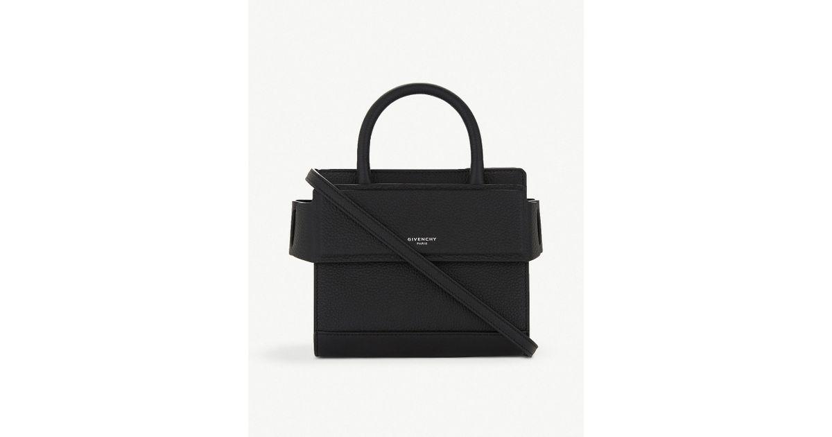 888cf7087d8 Lyst - Givenchy Black Horizon Nano Leather Cross Body Bag in Black