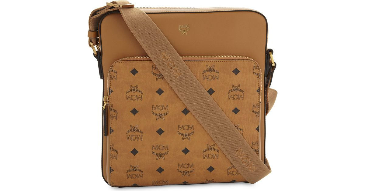 3bab496960c8 Lyst Mcm Ottomar Visetos Small Messenger Bag In Brown
