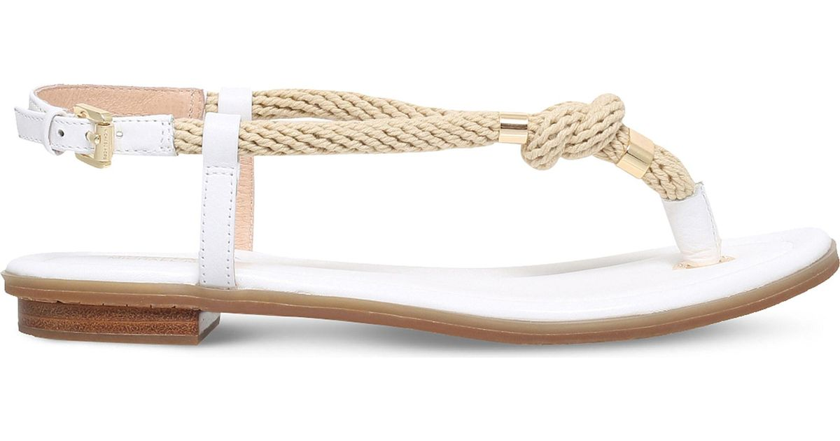 574c831ceecb MICHAEL Michael Kors Holly Leather   Rope Sandals in Natural - Lyst