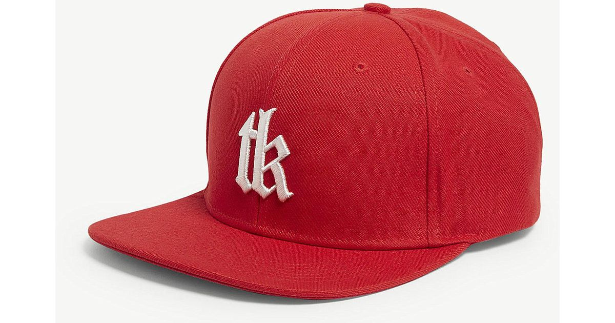 00f86ffe9fc The Kooples Tks Snapback Cap in Red for Men - Lyst