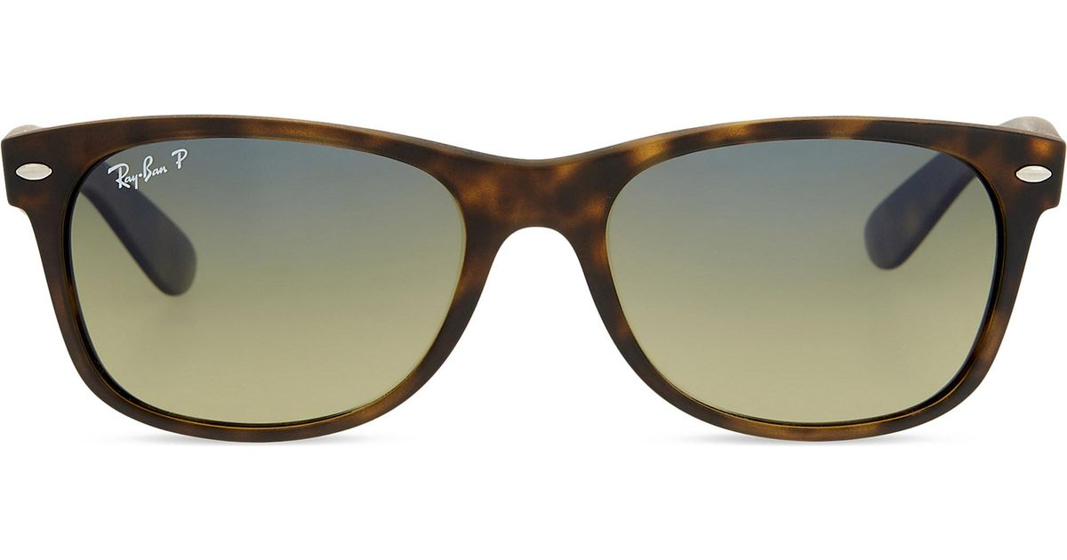 75ebcef546 Lyst - Ray-Ban Rb2132 Tortoiseshell New Wayfarer Sunglasses in Brown