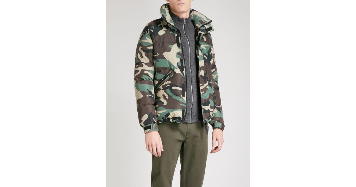 25faa4592cf16 Sandro Camouflage-print Shell Puffer Jacket in Green for Men - Lyst