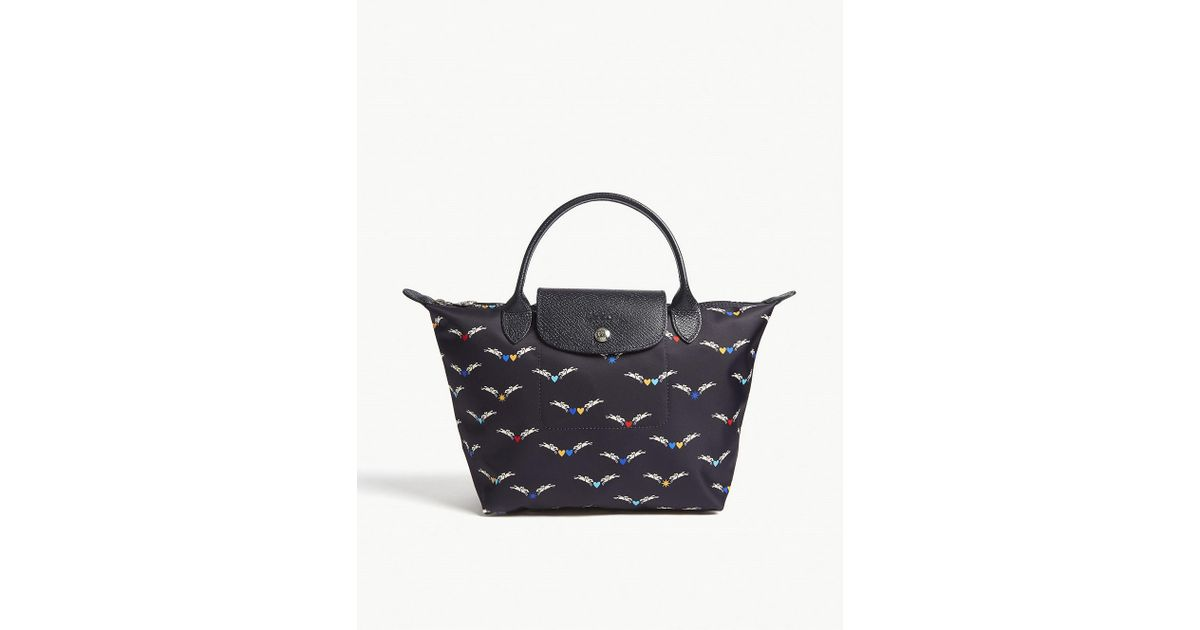 59d19880c8bb Longchamp Le Pliage Chevaux Ailes Small Tote in Blue - Lyst