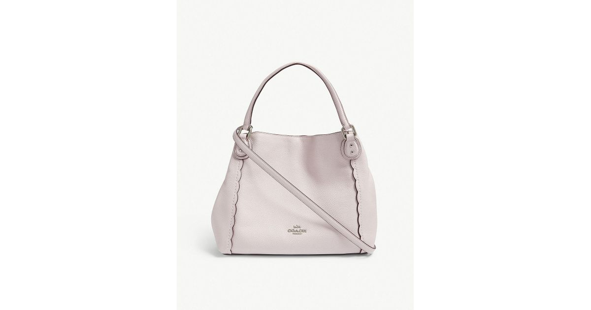 e88ef3b53ea71 ... australia coach ladies ice pink edie 28 scalloped leather shoulder bag  in pink lyst 80745 3a484