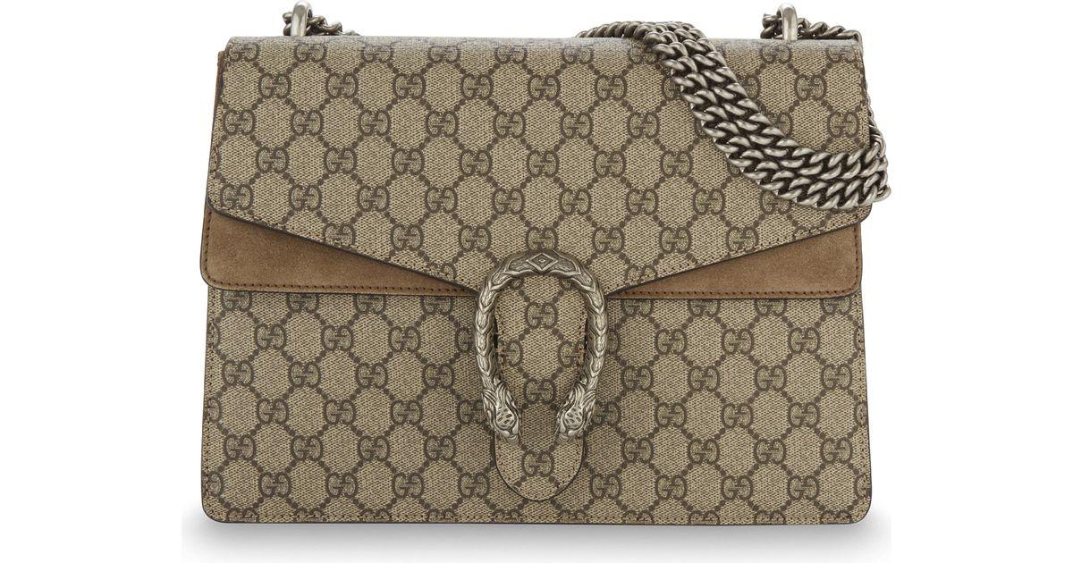 513fee8b949 Gucci Dionysus Medium Gg Supreme Shoulder Bag - Lyst