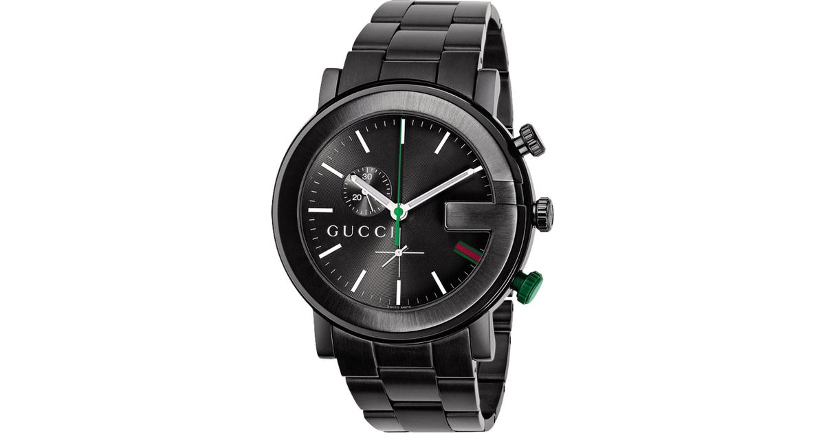 cc8c3fbf7c7 Lyst - Gucci Ya101331 G-chrono Collection Pvd And Stainless Steel Watch in  Black for Men