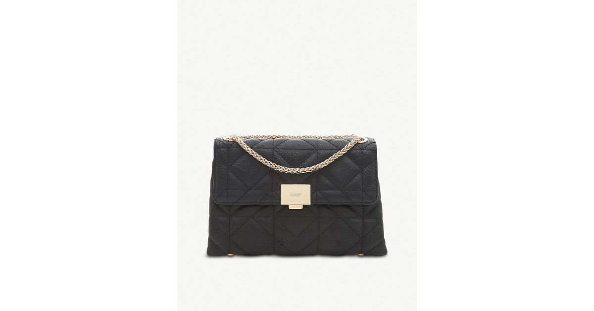 Lyst - Dune Evangelina Faux-leather Quilted Shoulder Bag in Black 89cb92d7168f4