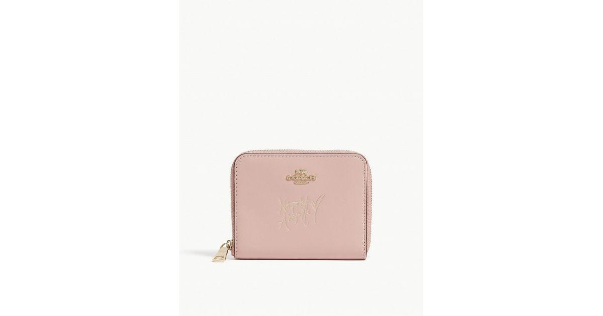 2001825c78f7 Coach X Selena Small Zip-around Wallet In Colourblock in Pink - Lyst