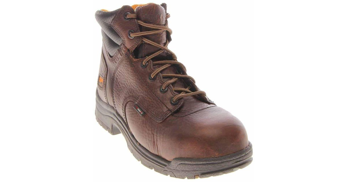 6f24dc54a11 Timberland - Brown Titan 6 Inch Composite Toe Work Boots for Men - Lyst