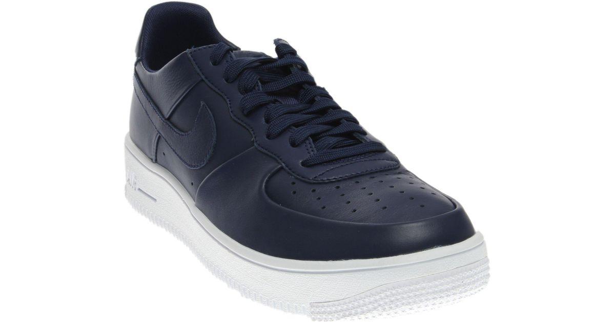 Lyst - Nike Air Force 1 Ultraforce Leathr in Blue for Men e0109a1f4