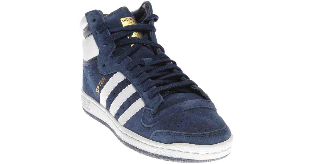 Lyst Adidas Top Ten Hi en color azul para hombres