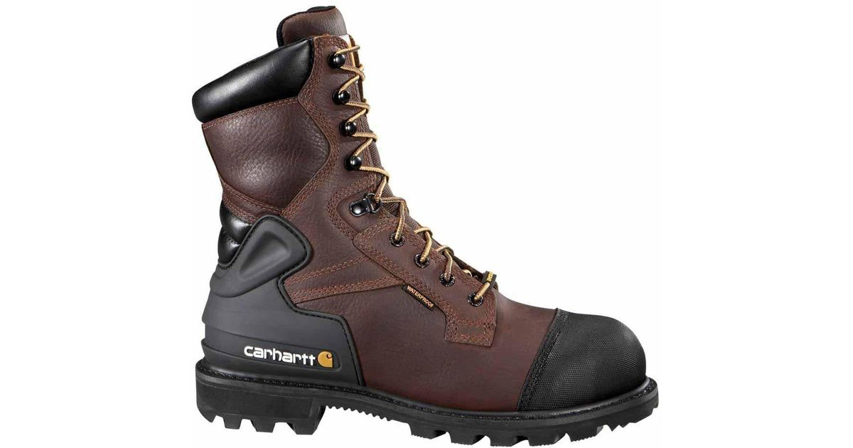 00b0a2a1061 Carhartt - Brown 8 Inch Waterproof Insulated Steel Toe Work Boot Csa for  Men - Lyst