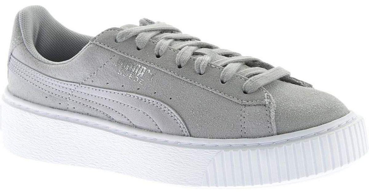 0e33f2c6092 Lyst - PUMA Suede Platform Safari Sneaker in Gray