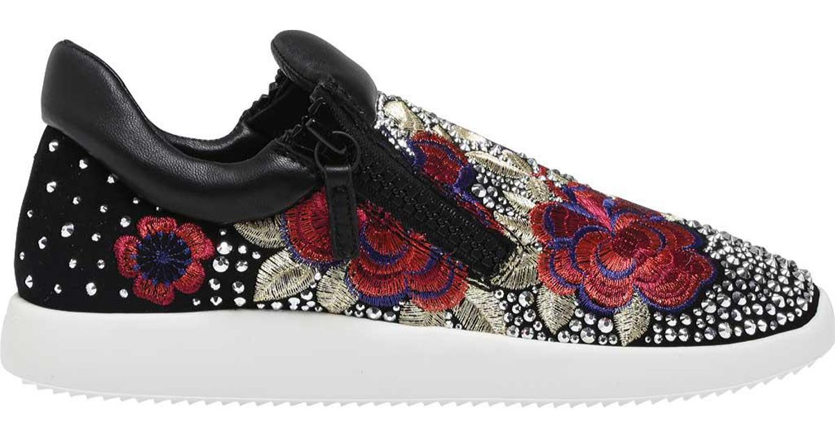 df4d661b4d8e8 Lyst - Giuseppe Zanotti Single Embroidered Side-zip Sneaker