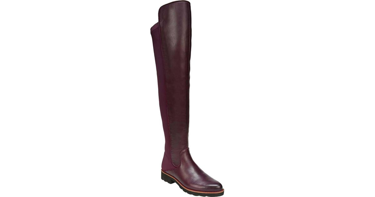 0acd2df20f7 Lyst - Sarto Benner Over The Knee Boot in Purple