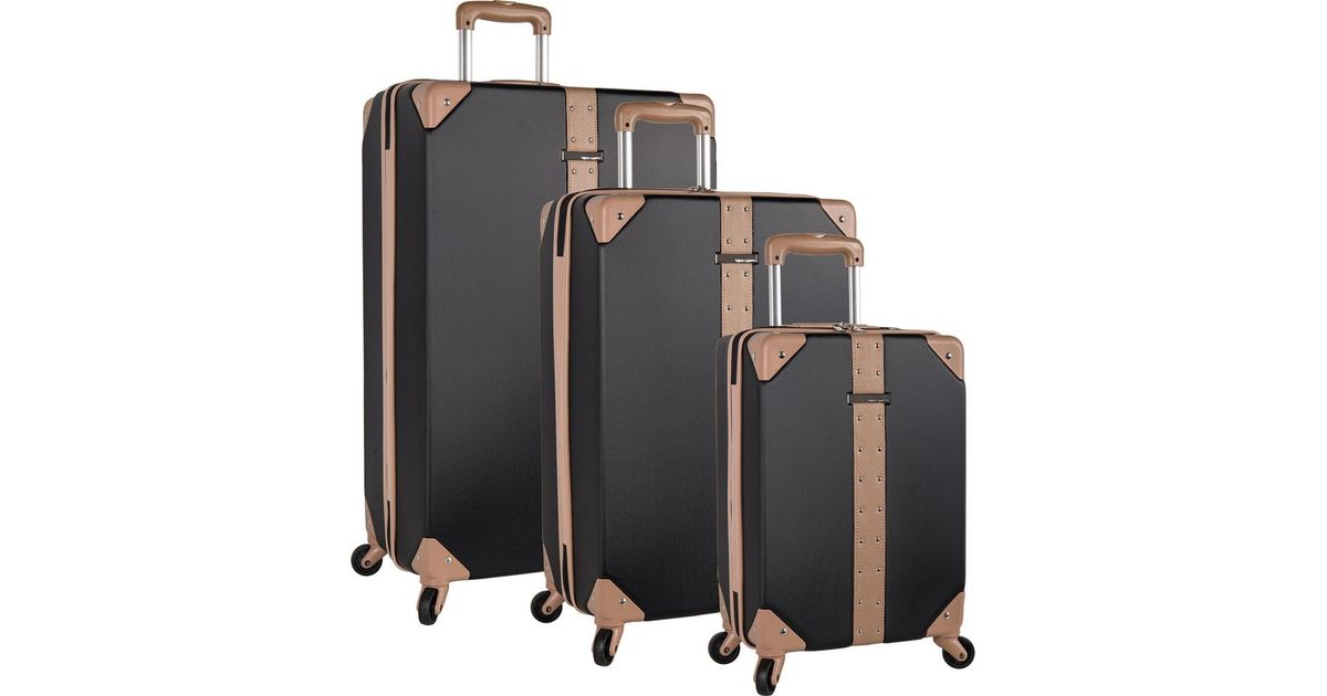 5b5ad510d Vince Camuto Laurra 3-piece Luggage Set in Black - Lyst