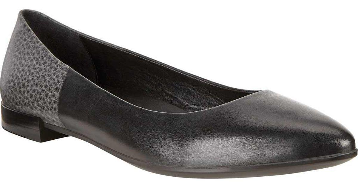 bd9242a0 Ecco - Black Shape Pointy Ballerina Flat - Lyst