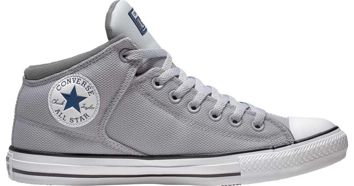 e728dba7a Converse Chuck Taylor All Star High Street Uniform Mid in Gray - Lyst