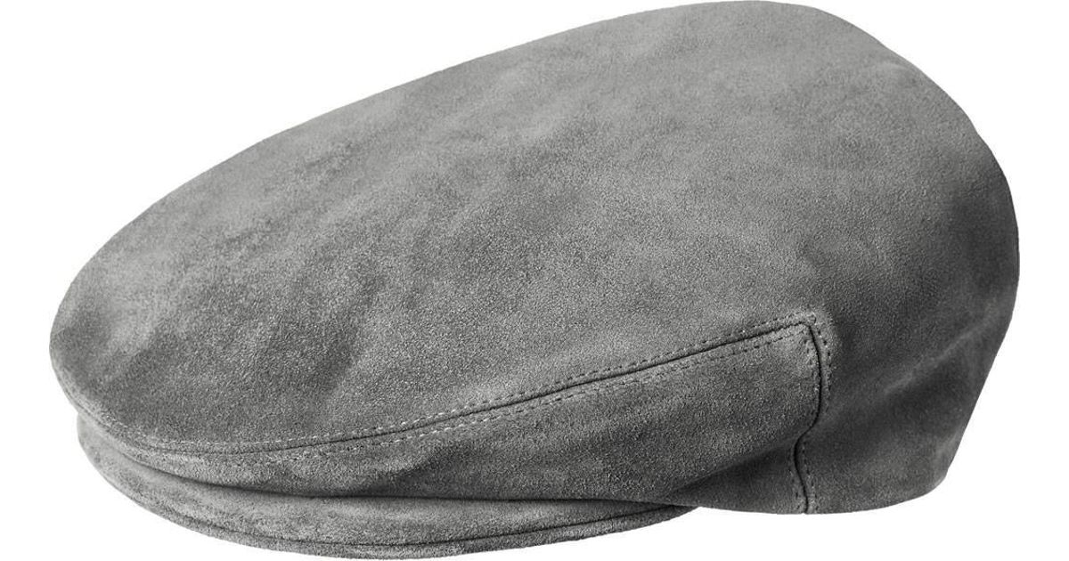 4ef57b5d69057 Lyst - Kangol Suede Newsboy Cap in Gray for Men