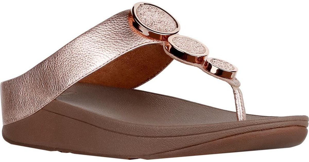 dc031c7d8bfe5 Lyst - Fitflop Halo Thong Wedge Sandal in Brown
