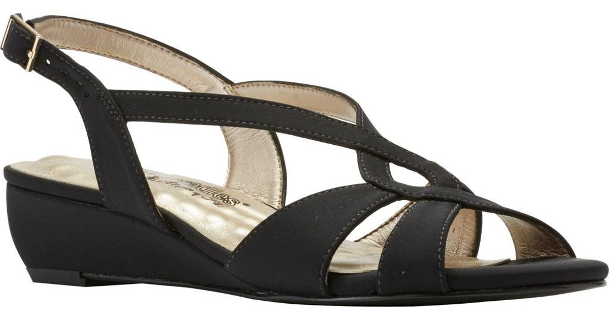 a021a6704524d4 Lyst - Walking Cradles Dixie Demi Wedge Slingback in Black