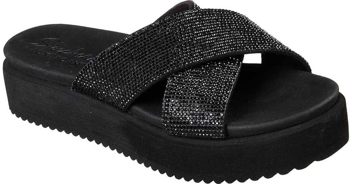 b47fbe38bf4d Lyst - Skechers Jeepers Rock Stunner Slide Sandal in Black