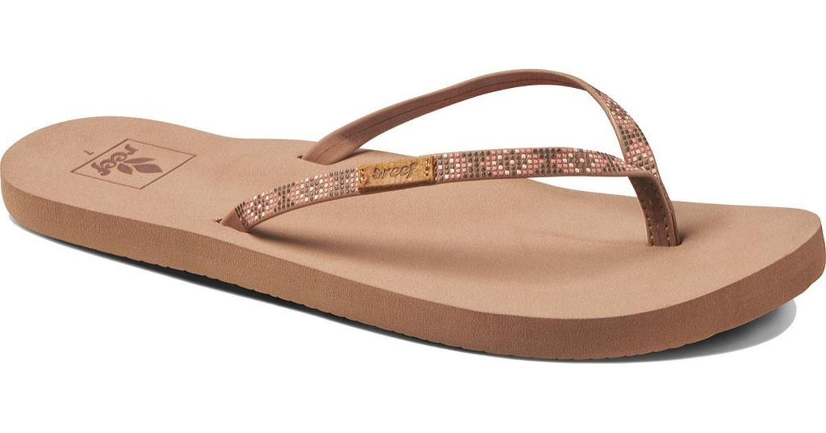 4ab2b5ac7ad4 Lyst - Reef Slim Ginger Beads Thong Sandal in Brown