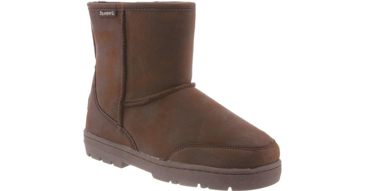 098f6341669 BEARPAW - Brown Patriot Solids Mid Calf Boot for Men - Lyst