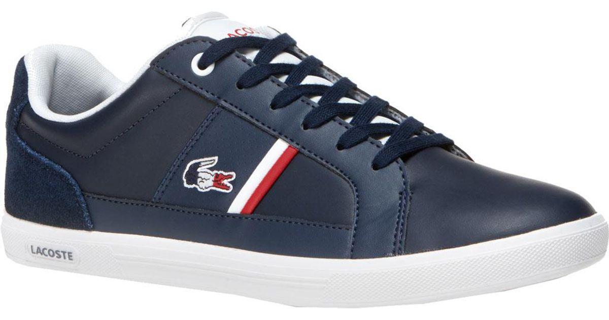 423e5d2bf2247c Lyst - Lacoste Europa 1 Leather Sneaker in Blue for Men