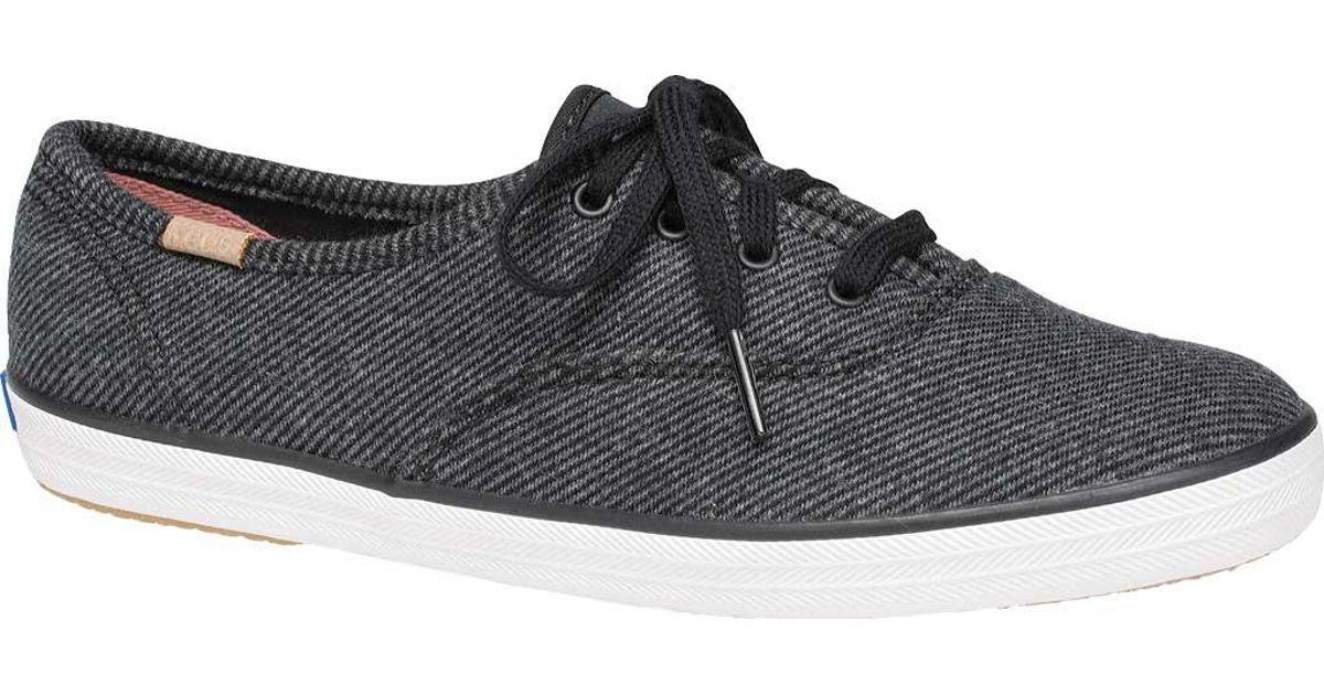 2bc53df40bd Lyst - Keds Champion Twill Stripe Jersey Sneaker