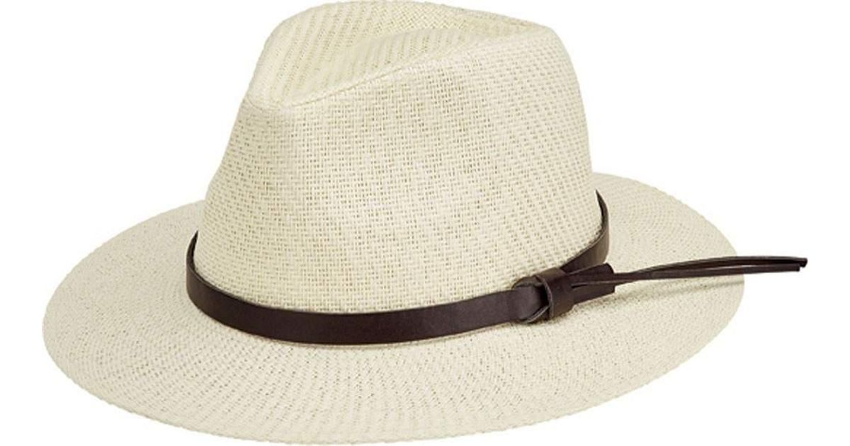 e9fffe528f4 Lyst - San Diego Hat Company Faux Leather Band Cut And Sew Paper Fedora  Cth3561 in White for Men