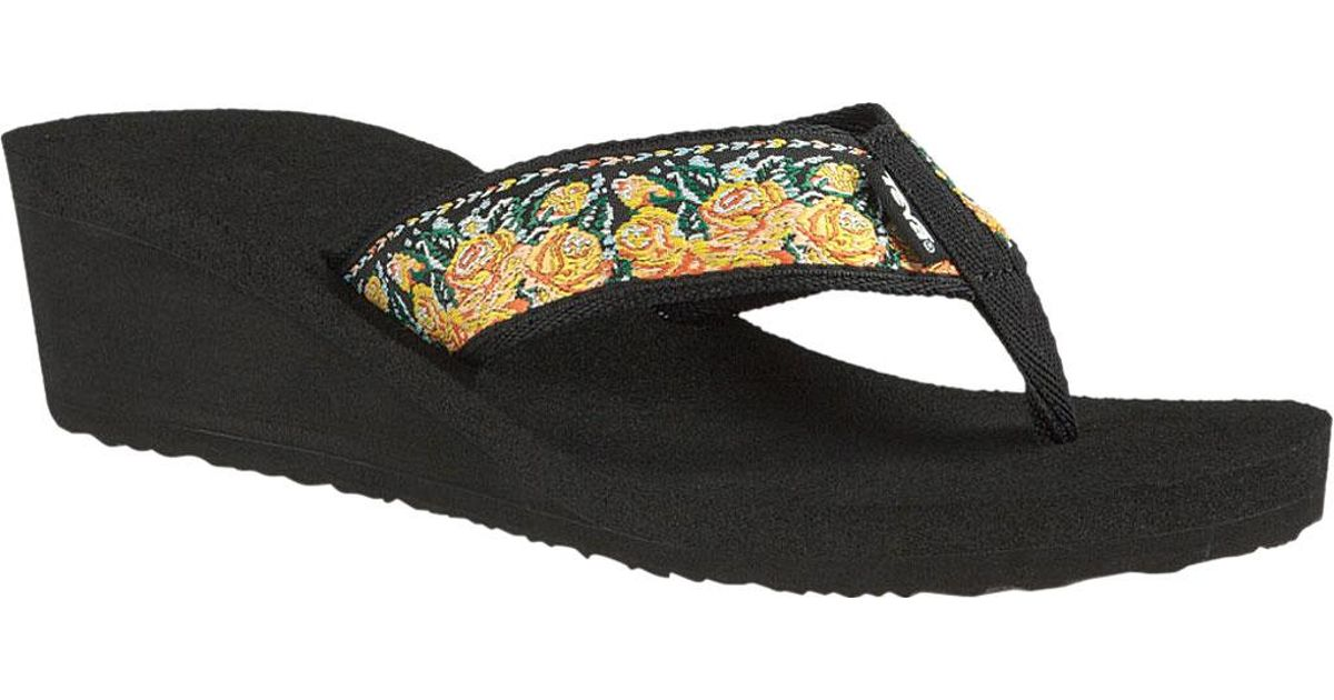 Lyst - Teva Mush Mandalyn Wedge 2 in Black 39a14abb7777