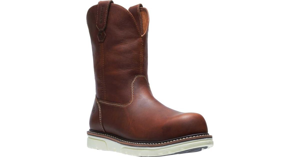 69bc2d0c06c Wolverine - Brown I-90 Durashocks Wedge Wellington Comp Toe Boot for Men -  Lyst
