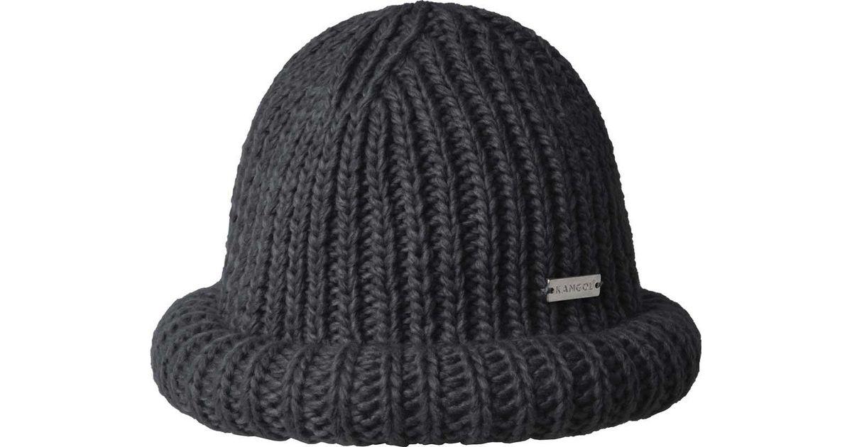 b438209194c Lyst - Kangol Rolled Beanie in Black for Men