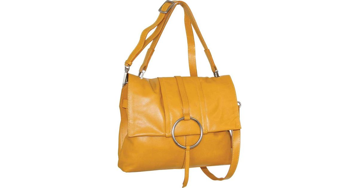 Lyst - Nino Bossi Ila Leather Crossbody Bag in Yellow 5dd38236cfeb4