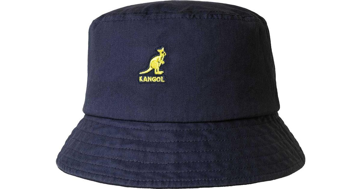 b60b580a3a6 Lyst - Kangol Washed Bucket Hat in Blue for Men