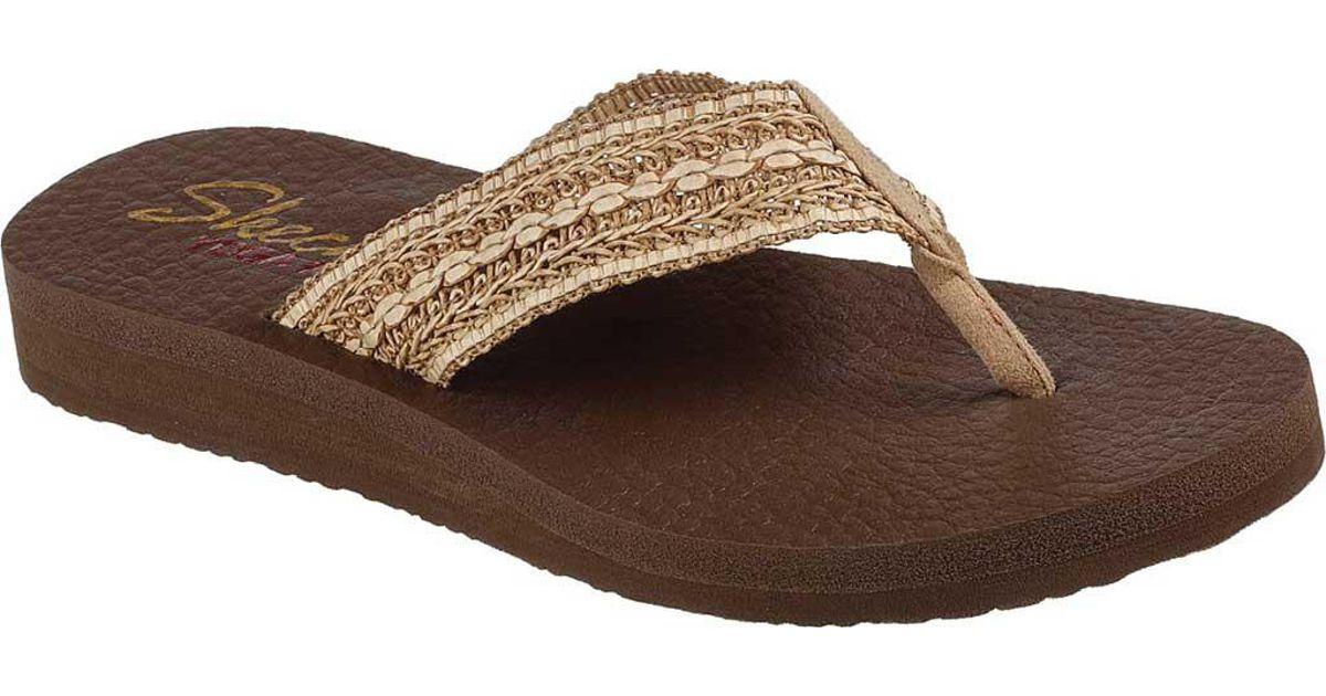db1281a28ecb Lyst - Skechers Meditation Zen Summer Thong Sandal in Brown