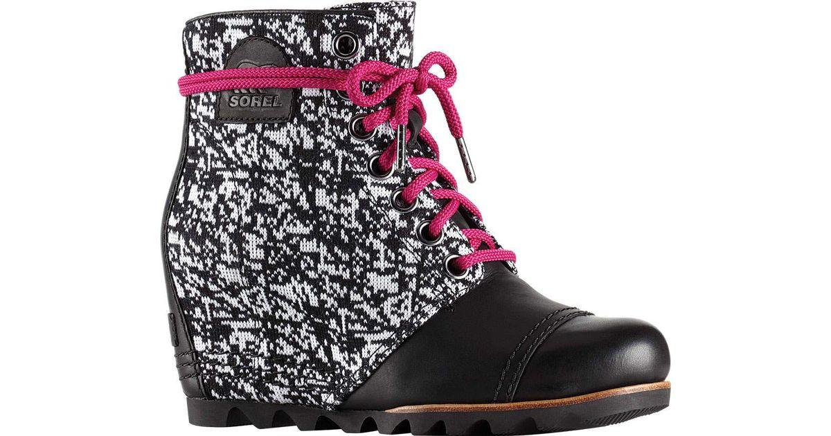 cc78935764c Lyst - Sorel Pdx Wedge Boot in Black