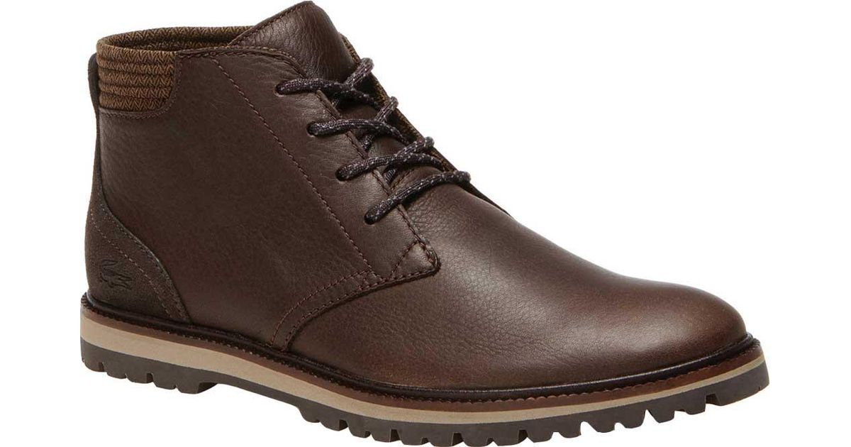 9ff2b465b7c36a Lyst - Lacoste Montbard Chukka Boot in Brown for Men