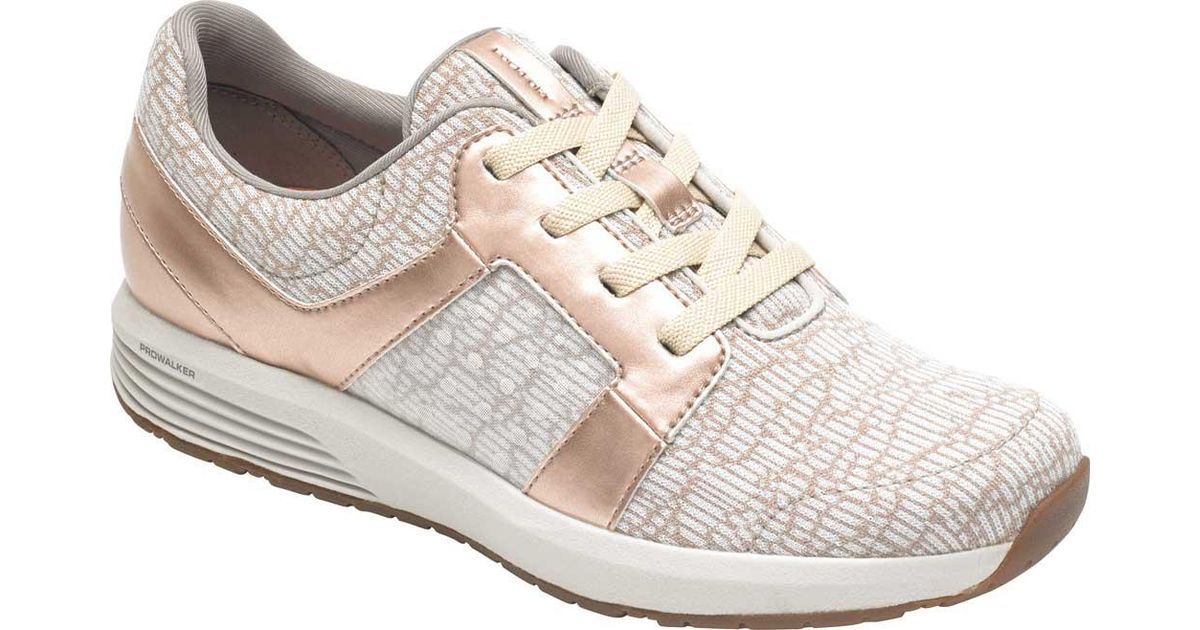 24ae4fe9207 Lyst - Rockport Ts Knit Tie (rose Gold) Women s Shoes - Save 22%