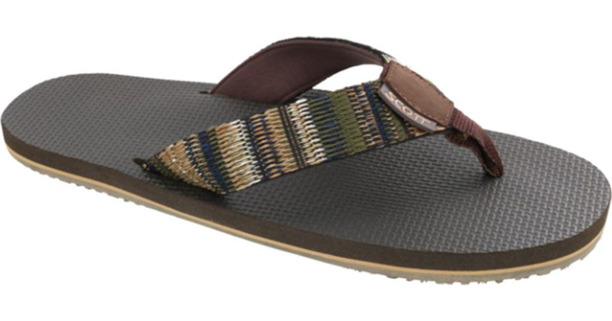 3d6d94512182 Lyst - Scott Hawaii Aina Flip Flop in Brown for Men