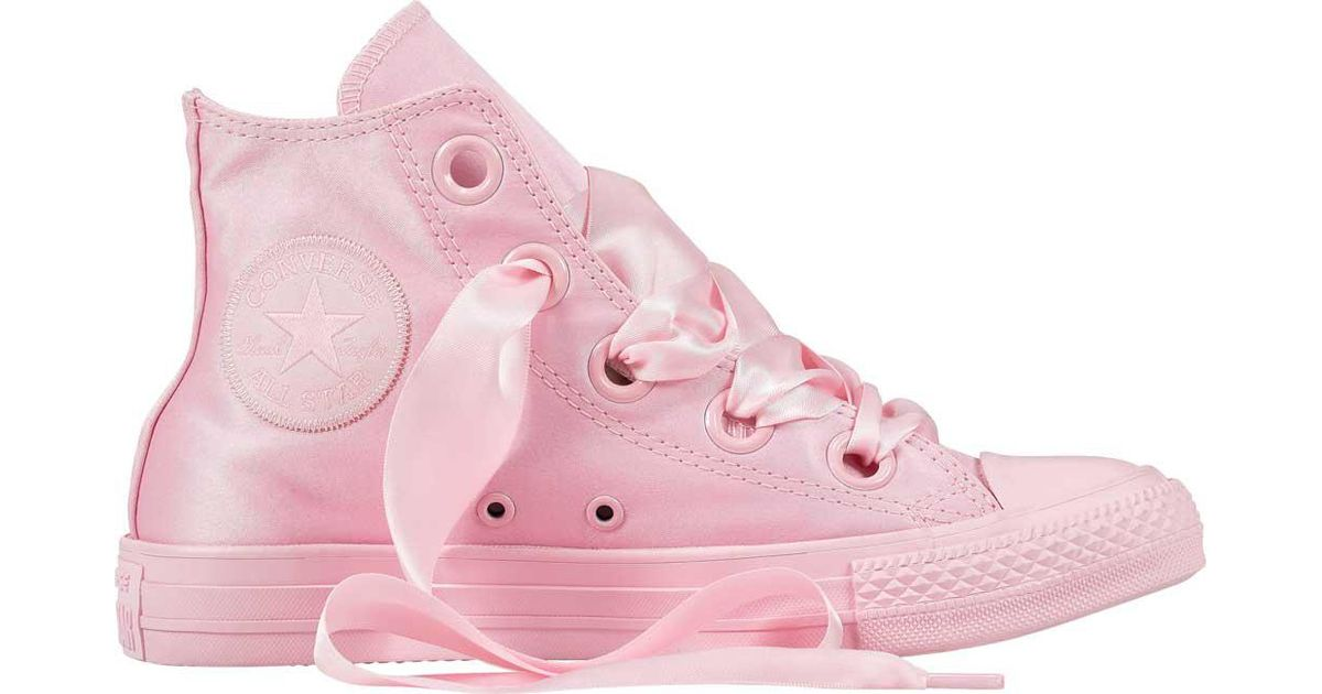 7a0972f17f210a Lyst - Converse Chuck Taylor All Star Big Eyelets High Top in Pink